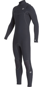 2019 Billabong Mannen Furnace Ultra 5/4mm Chest Zip Wetsuit Zwart Q45m02