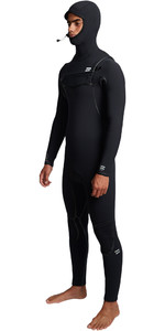 2019 Billabong Mens Furnace Ultra 5/4mm Hooded Chest Zip Wetsuit Black Q45M03