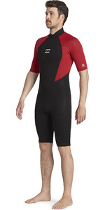 2020 Billabong Intruder 2mm Back Zip Shorty Wetsuit 042m19 - Vermelho