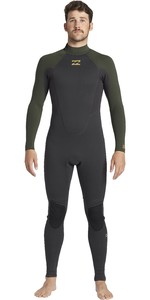 2020 Billabong Uomini Intruder 5/4mm Back Zip Gbs Muta 045m18 - Antico Nero