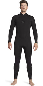 2021 Billabong Mannen Intruder 4/3mm Back Zip Gbs Wetsuit 044m18 - Zwart