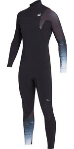 2019 Billabong Heren 3/2mm Pro Series Wetsuit Met Chest Zip Zwart / Fade N43m01