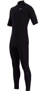 2021 Billabong Mannen Revolutie Pro 2mm Chest Zip Korte Mouw Wetsuit W42m54 - Camo