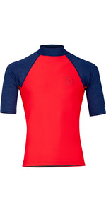 2019 Billabong Mens Rotohand Short Sleeve Rash Vest Red N4MY11
