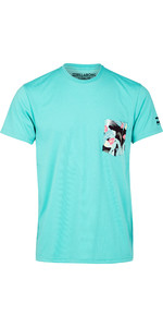 2019 Billabong Mens Team Pocket Surf Rash Tee Mint N4EQ01