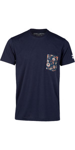 2019 Billabong Mens Team Pocket Surf Rash Tee Navy N4EQ01