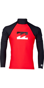 2019 Billabong Heren Team Wave Rash Vest Met Lange Mouwen Rood N4my07