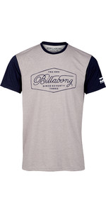 2019 Billabong Heren Handelsmerk Surf Rash Tee Grijs Flecked N4EQ02