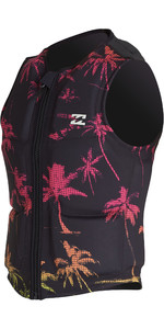 2020 Billabong Palms Wake Impact Vest S4VS01 - Zwart Neon