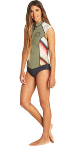 2019 Billabong Womens 1mm Captain Sleeveless Spring Shorty Wetsuit Serape N41G05