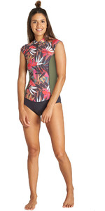 2019 Billabong Dames 1mm Captain Mouwloos Spring Shorty Wetsuit Tropisch Q41g02