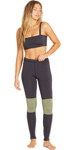 2019 Billabong Gambe Da Donna In Neoprene Da 1mm Nero Olive N41g03