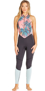 2019 Mulheres Billabong 2mm Salty Jane Sem Mangas Wetsuit Coral Bay N42g01