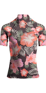 2019 Billabong Femmes Fleur Gilet Manches Courtes éruption Cutanée Hawaii N4gy03