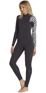 2018 Billabong Womens Furnace Carbon Comp 5/4mm Chest Zip Wetsuit Black Sands L45G15
