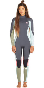 2019 Billabong Synergy Do Furnace Da Menina Júnior Billabong 3/2mm Back Zip Flatlock Wetsuit Seafoam N43b08