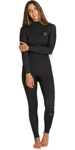 2019 Billabong De Las Mujeres Furnace Synergy 3/2mm Back Zip Q43g04 Negro Traje