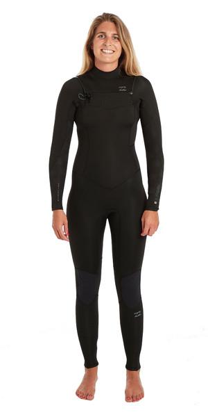 2019 Billabong Womens Furnace Synergy 3/2mm Chest Zip GBS Wetsuit Black Palms N43G03