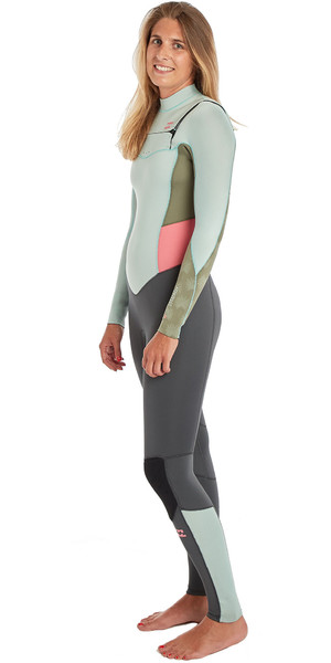 2019 Billabong Womens Furnace Synergy 3/2mm Chest Zip GBS Wetsuit Seafoam N43G03