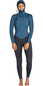 2019 Billabong Mulheres Furnace Synergy 5/4mm Com Capuz Chest Zip Wetsuit Black Marine Q45g04