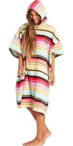 2019 Billabong Mulheres Com Capuz Mudando Robe / Poncho Serape N4br03