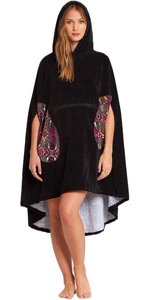 2018 Billabong Womens Hooded Poncho Black L4BR10