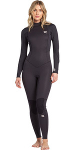 2020 Billabong Vrouwen Launch 5/4mm Back Zip Gbs Wetsuit 045g18 - Antiek Zwart