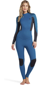 2021 Billabong Womens Launch 3/2mm Back Zip Flatlock Wetsuit 043G19 - Pacific