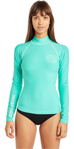 2019 Billabong Womens Logo In Long Sleeve Rash Vest Seagreen N4GY02