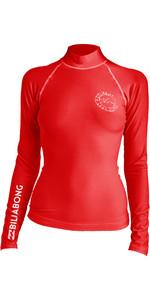 2019 Billabong Frauen Logo In Langarm Weste Sonnenuntergang Rot N4gy02