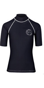 2019 Billabong Frauen Logo In Kurzarm Rash Weste Schwarz Pebble N4gy01