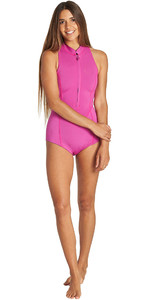 2019 Billabong Womens Salty Dayz 1mm Front Zip Sleeveless Shorty Wetsuit Orchid Haze Q41G08
