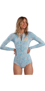 2021 Billabong Womens Salty Dayz 2mm LS Spring Shorty Wetsuit W42G53 - Island Blue Neo
