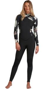 2020 Billabong Womens Salty Dayz 5/4mm Chest Zip Wetsuit U45G30 - Black Pebbles