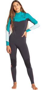 2019 Mulheres Billabong Salty Dayz 4/3mm Chest Zip Wetsuit Palm Verde Q44g75