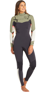 2019 Billabong Womens Salty Dayz 4/3 mm Borst Zip Wetsuit Serape N44G31