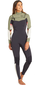 2019 Mulheres Billabong Salty Dayz 4/3mm Chest Zip Wetsuit Serape Q44g75