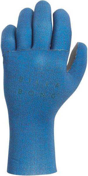 2018 Billabong Damen Salzige Benommenheit 2mm Neopren Handschuh Blau Swell L4GL01