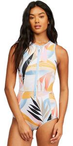 2021 Billabong Mujer Sol Sistah 1mm Shorty Spring Wetsuit Z42g17 - Ola De Calor