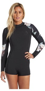2020 Shorty Neopreno Shorty Manga Larga De 2mm Para Mujer Billabong Spring Fever U42g33 - Black Pebble