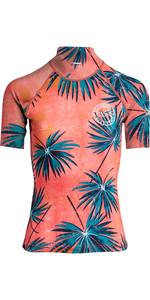 2019 Billabong Donna Surf Capsule Manica Corta Rash Vest Palm N4gy05
