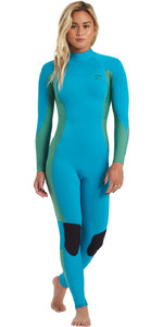 2020 Billabong Feminino Synergy 3/2mm Back Zip Gbs Wetsuit U43g36 - Deep Sea