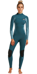 2021 Billabong Womens Synergy 5/3mm Back Zip Wetsuit W45G52 - Blue Seas