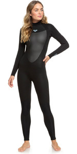 Roxy Womens Prologue 5/4 / 3mm Voltar Zip Wetsuit Preto ERJW103041