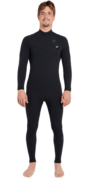 2018 Billabong Furnace Carbon Comp 3/2mm Ziperless Wetsuit Black L43M03