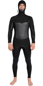 2018 Billabong Fornalha Absolute X Com Capuz 5 / 4mm Peito Zip Wetsuit Preto L45M08