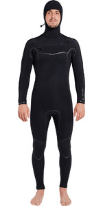 Billabong Furnace Carbon Ultra Hooded 7/6mm Chest Zip Wetsuit Black L47M01