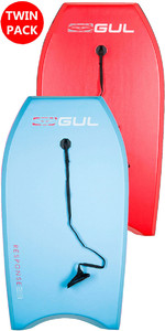 2019 GUL RESPONSE JUNIOR TWIN PACKAGE BODYBOARDS - 2 JUNIOR - HELLBLAU & ROT