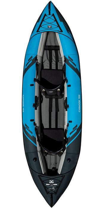 2020 Aquaglide Chinook 100 2 Mann Kajak Blau - Nur Kajak
