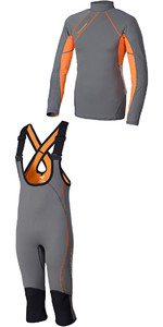 Crewsaver Junior Phase 2 Hiking Shorts & Rash Vest Grey / Orange - Package Deal